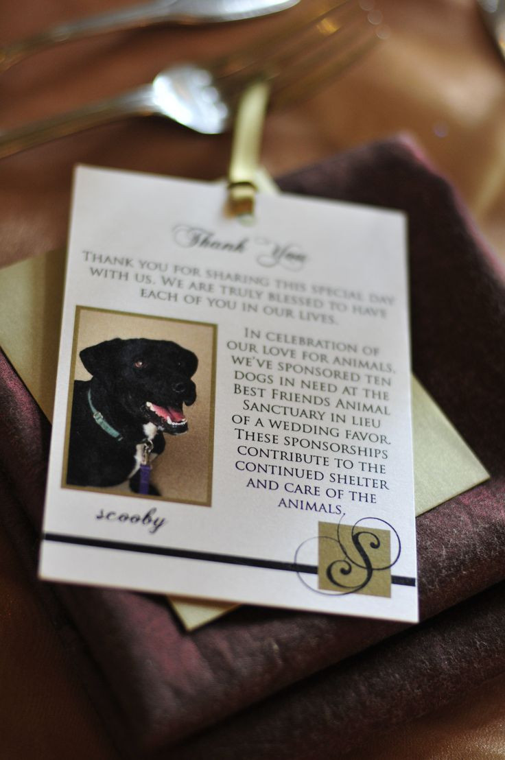 Charity Wedding Favors  Giving Back on Your Wedding Day