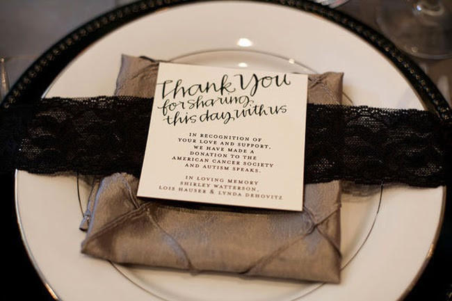Charity Wedding Favors  San Diego Style Weddings Personalized Touches Charitable