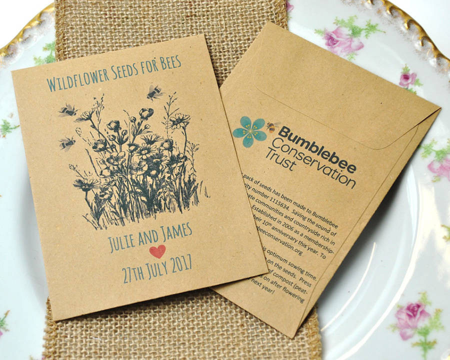 Charity Wedding Favors  Bumblebee Conservation Trust Charity Wedding Favours