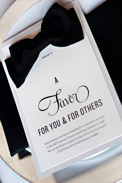Charity Wedding Favors  Donation to a Charity