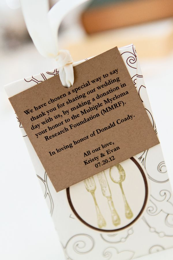 Charity Wedding Favors  Party favors donations