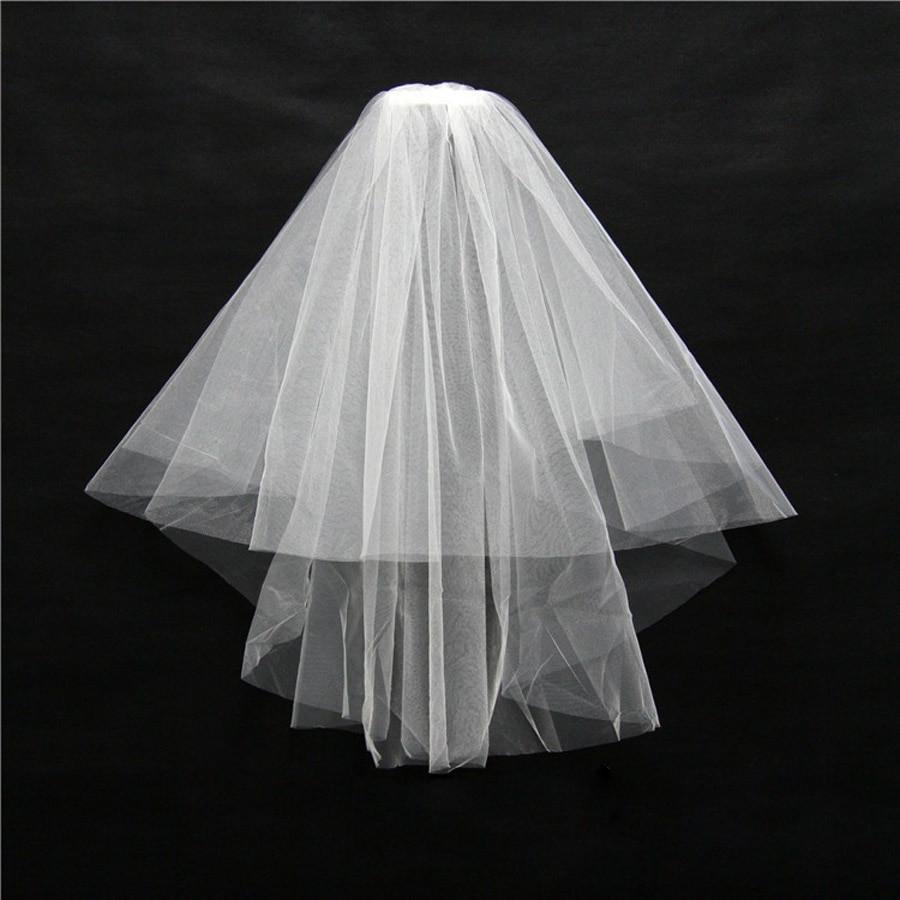 Cheap Wedding Veils With Comb  ZYLLGF Bridal Stock Simple Bridal Veils Cheap Wedding Net