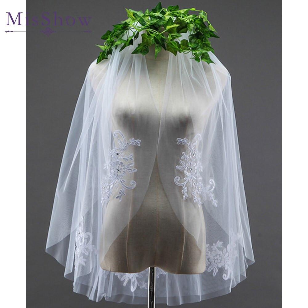 Cheap Wedding Veils With Comb  Aliexpress Buy 2018 cheap b white short bridal
