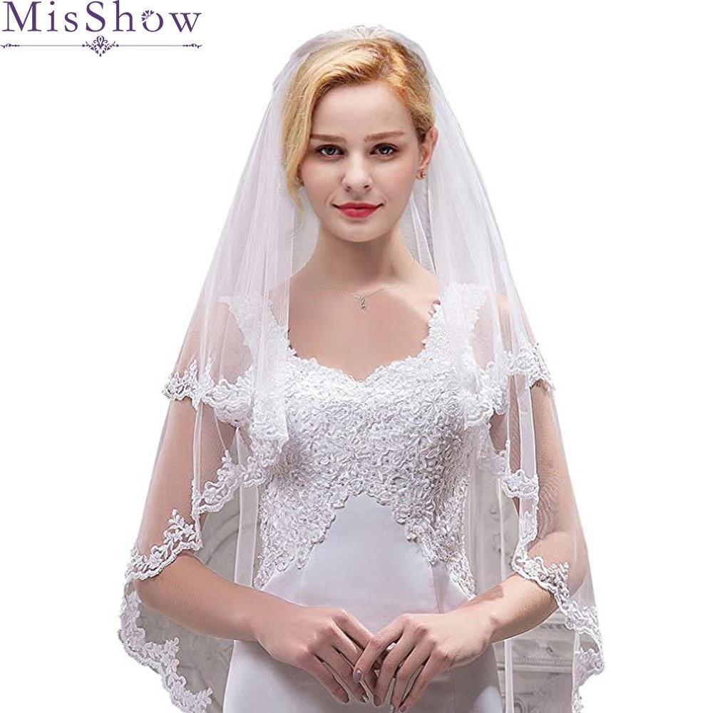 Cheap Wedding Veils With Comb  2019 Cheap Bridal Veil With bs Elbow Length Veil Short