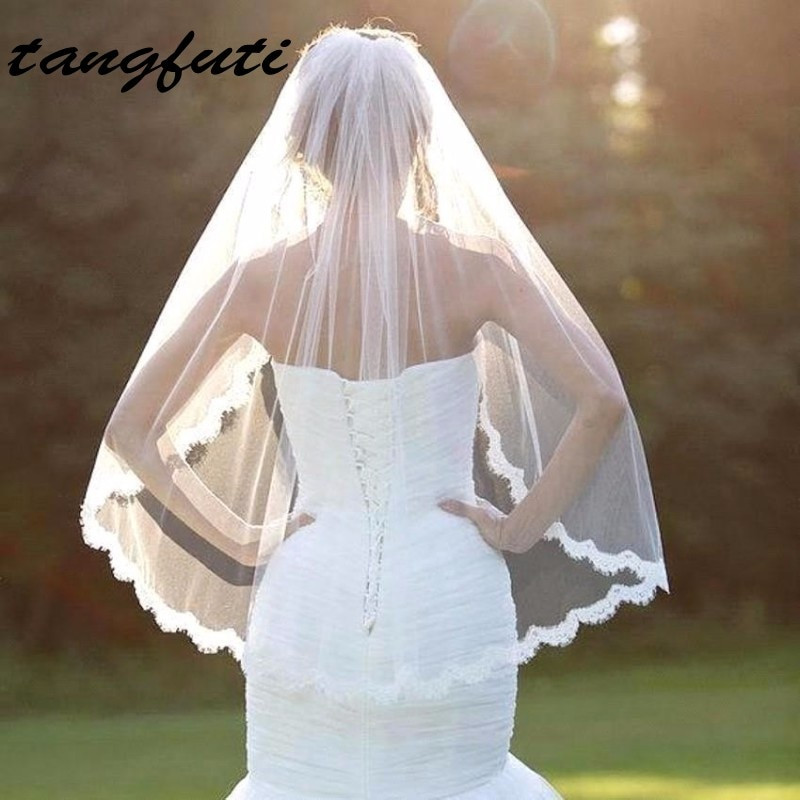 Cheap Wedding Veils With Comb  Aliexpress Buy White Ivory Bridal Veils With b