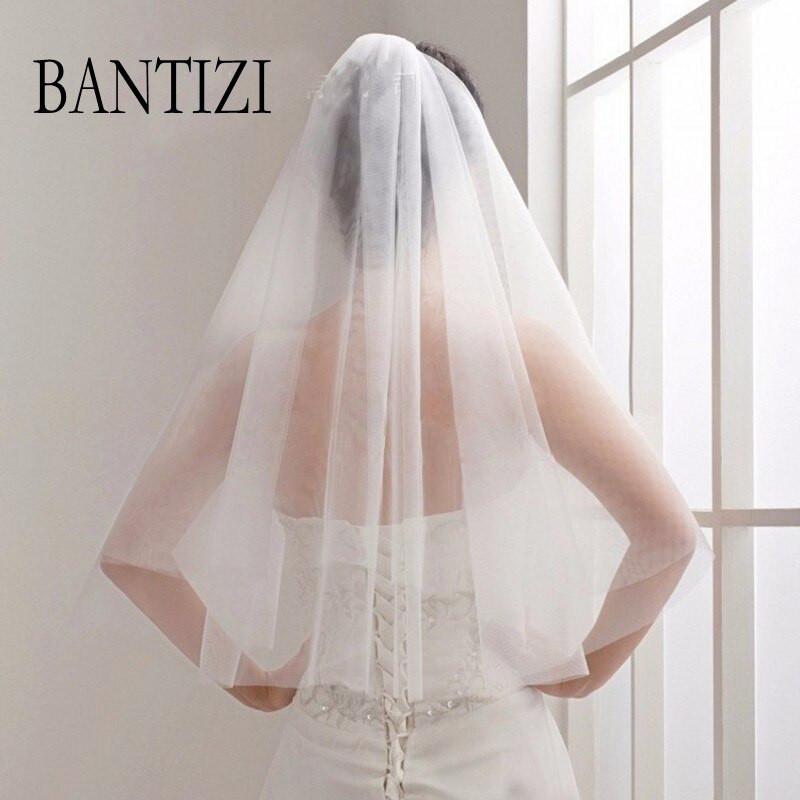 Cheap Wedding Veils With Comb  Cheap Bridal Veil Wedding Veil White 2 Layer Tulle Cut