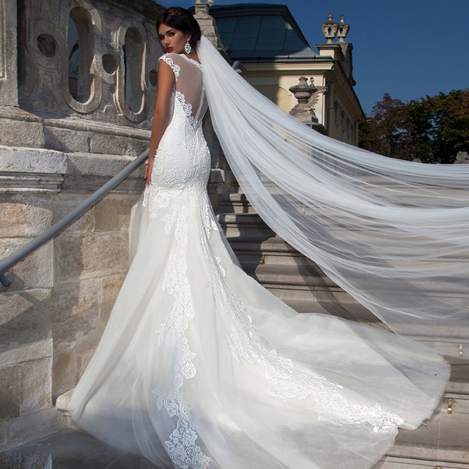 Cheap Wedding Veils With Comb  Cheap Cathedral Wedding Veils Long Wedding Veil With b