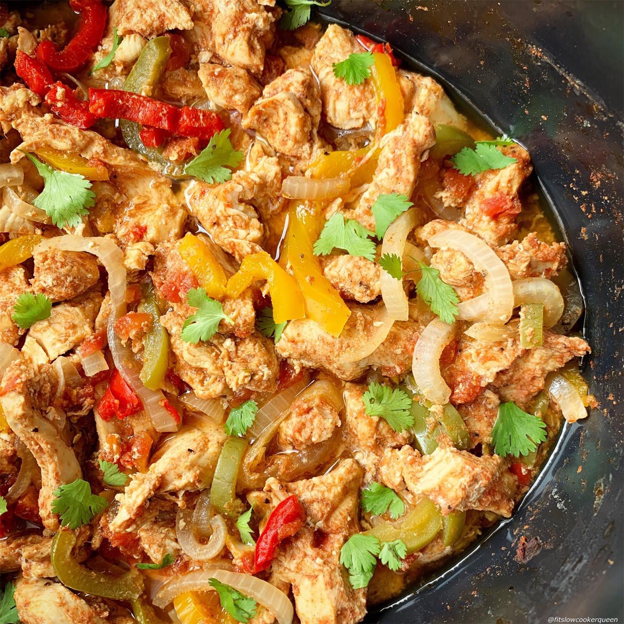 Chicken Fajitas Instant Pot  VIDEO Slow Cooker Instant Pot Chicken Fajitas Low Carb