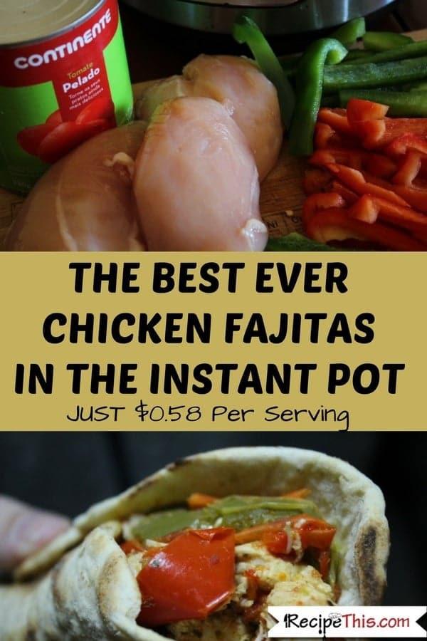 Chicken Fajitas Instant Pot  Instant Pot Chicken Fajitas