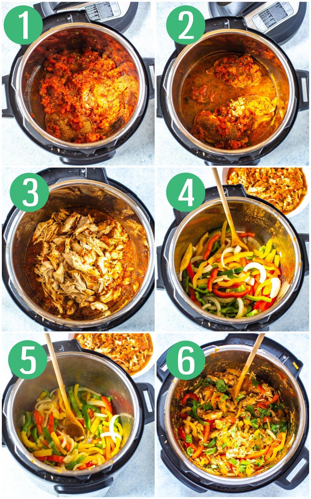 Chicken Fajitas Instant Pot  The Best Instant Pot Chicken Fajitas Eating Instantly
