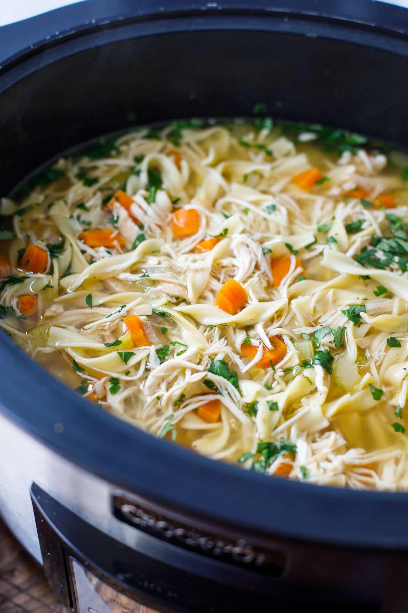 Chicken Noodle Soup In Crock Pot  Crock Pot Chicken Noodle Soup Recipe