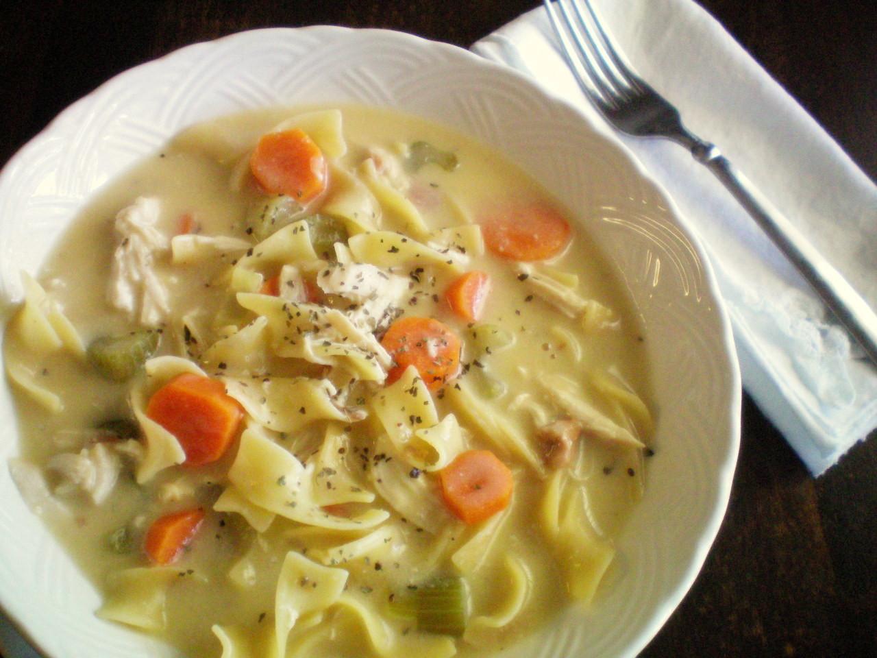 Chicken Noodle Soup In Crock Pot  Crock Pot Creamy Chicken Noodle Soup