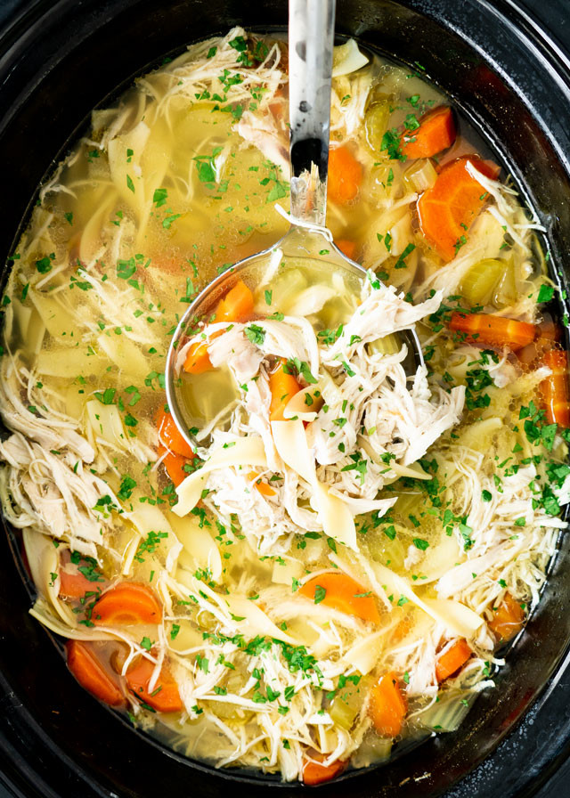 Chicken Noodle Soup In Crock Pot  Crockpot Chicken Noodle Soup Jo Cooks