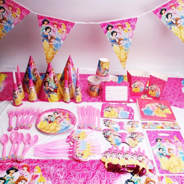 Child Birthday Party Supplies  135pcs lot Princess Party Favors Children Birthday Party