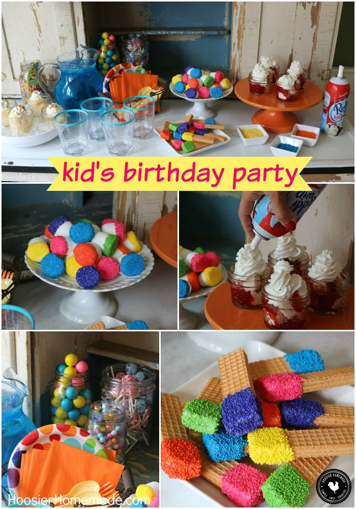 Child Birthday Party Supplies  Easy Kid s Birthday Party Ideas Hoosier Homemade