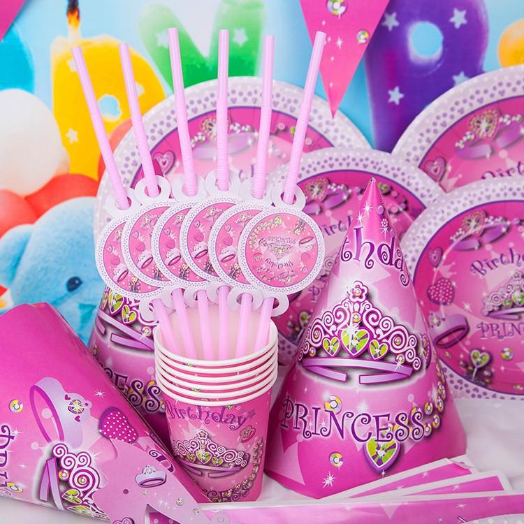Child Birthday Party Supplies  Aliexpress Buy DIY Princess girl Kids Birthday