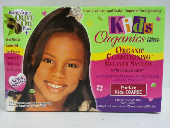 Child Hair Relaxer  [AFRICA S BEST] KIDS ORGANICS CONDITIONING RELAXER SYSTEM