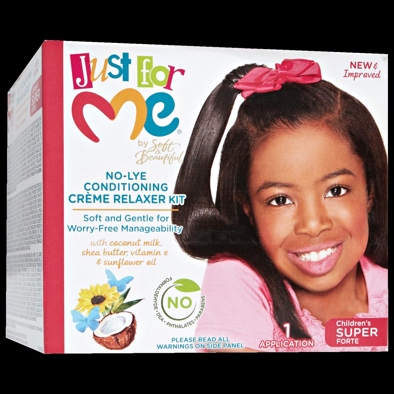 Child Hair Relaxer  Soft & Beautiful No Lye Super Relaxer Kit