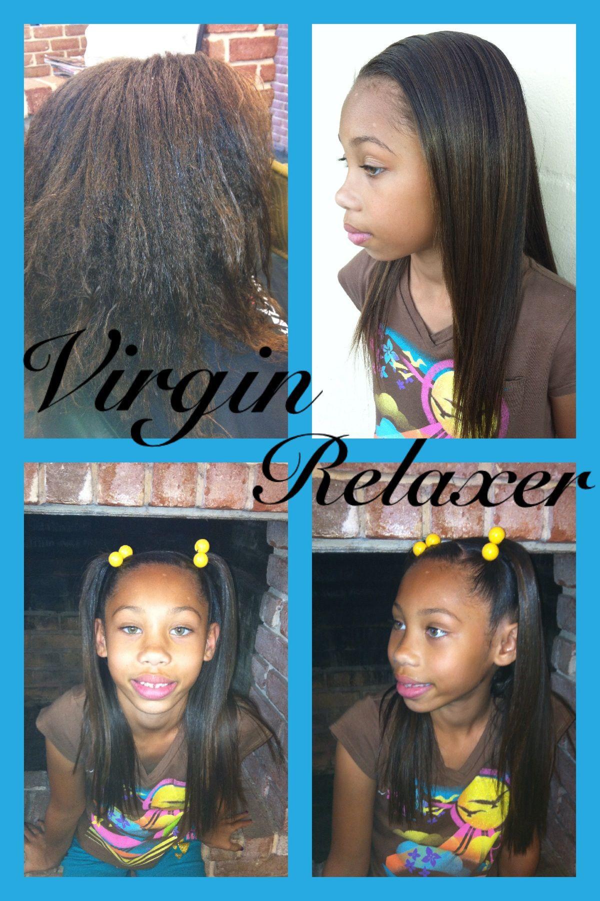 Child Hair Relaxer  Virgin relaxer & kids style