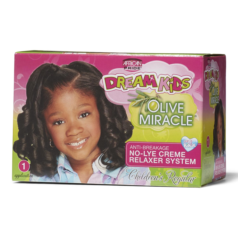 Child Hair Relaxer  African Pride Dream Kids Olive Miracle Relaxer Kit Regular