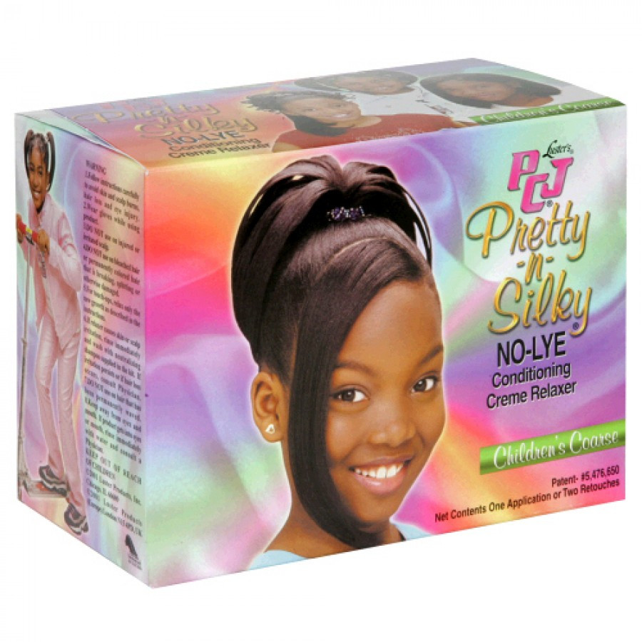 Child Hair Relaxer  PCJ Pretty n Silky No Lye Children s Coarse Relaxer