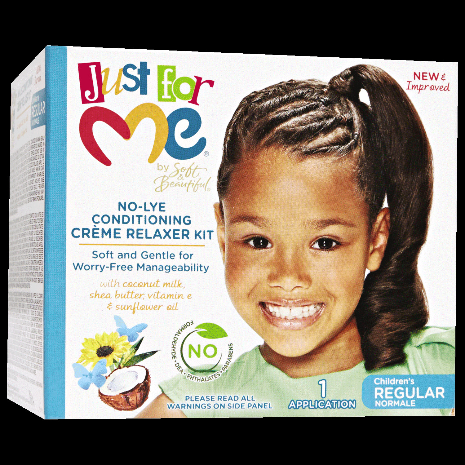 Child Hair Relaxer  Soft & Beautiful Just For Me No Lye Conditioning Creme
