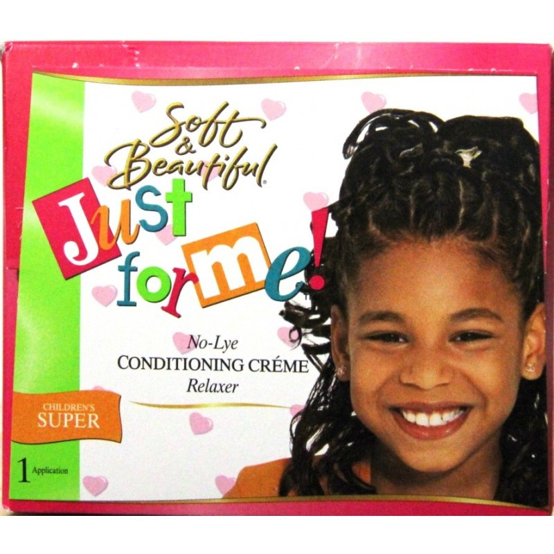 Child Hair Relaxer  Soft and Beautiful Just for me No lye Conditioning Creme