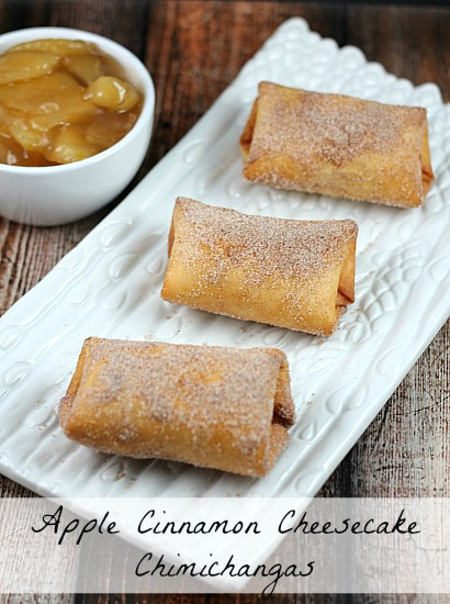 Chimi Cheese Cake  Apple Cinnamon Cheesecake Chimichangas Moments With Mandi