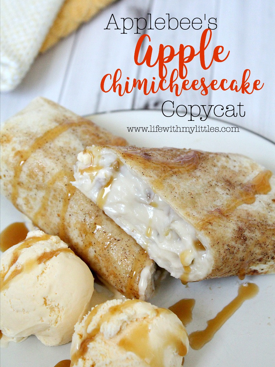 Chimi Cheese Cake  Applebee s Apple Chimicheesecake Copycat Life With My