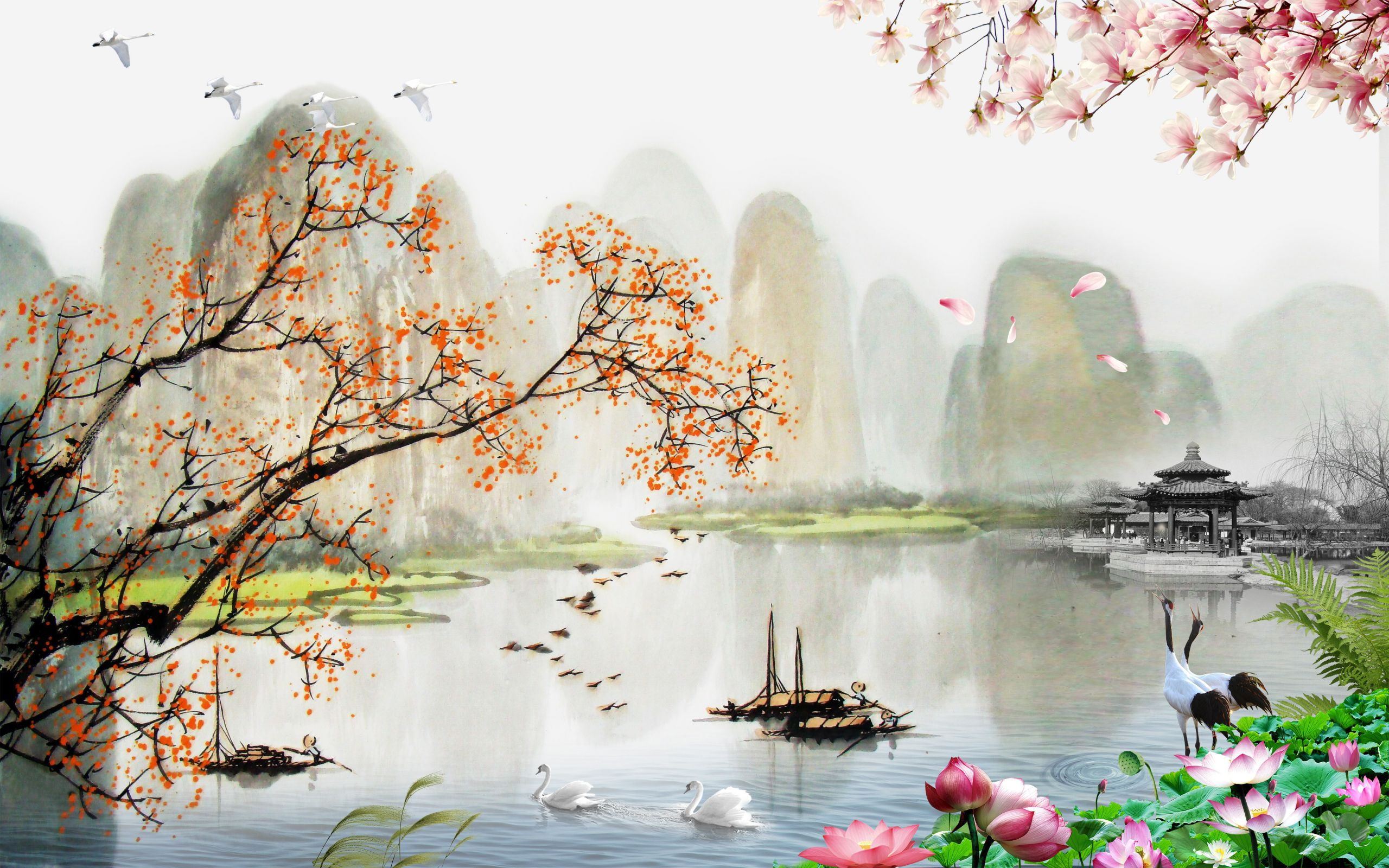 Chinese Landscape Paintings  Chinese Landscape Painting Style Chinese Style Landscape