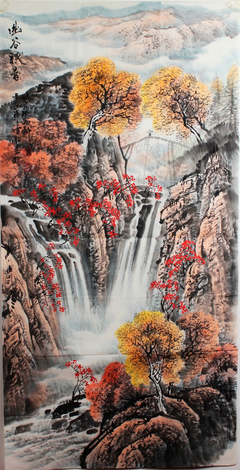 Chinese Landscape Paintings  Chinese Autumn Landscape Painting