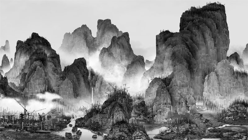 Chinese Landscape Paintings  Artist Uses Modern Techniques to Preserve a Traditional