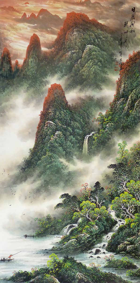 Chinese Landscape Paintings  Best 25 Chinese landscape painting ideas on Pinterest