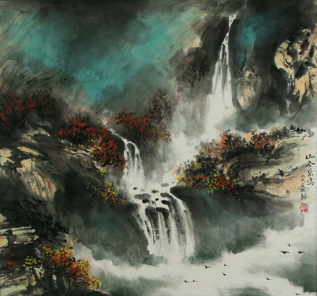 Chinese Landscape Paintings  Chinese Waterfall Landscape Painting Ancient Chinese