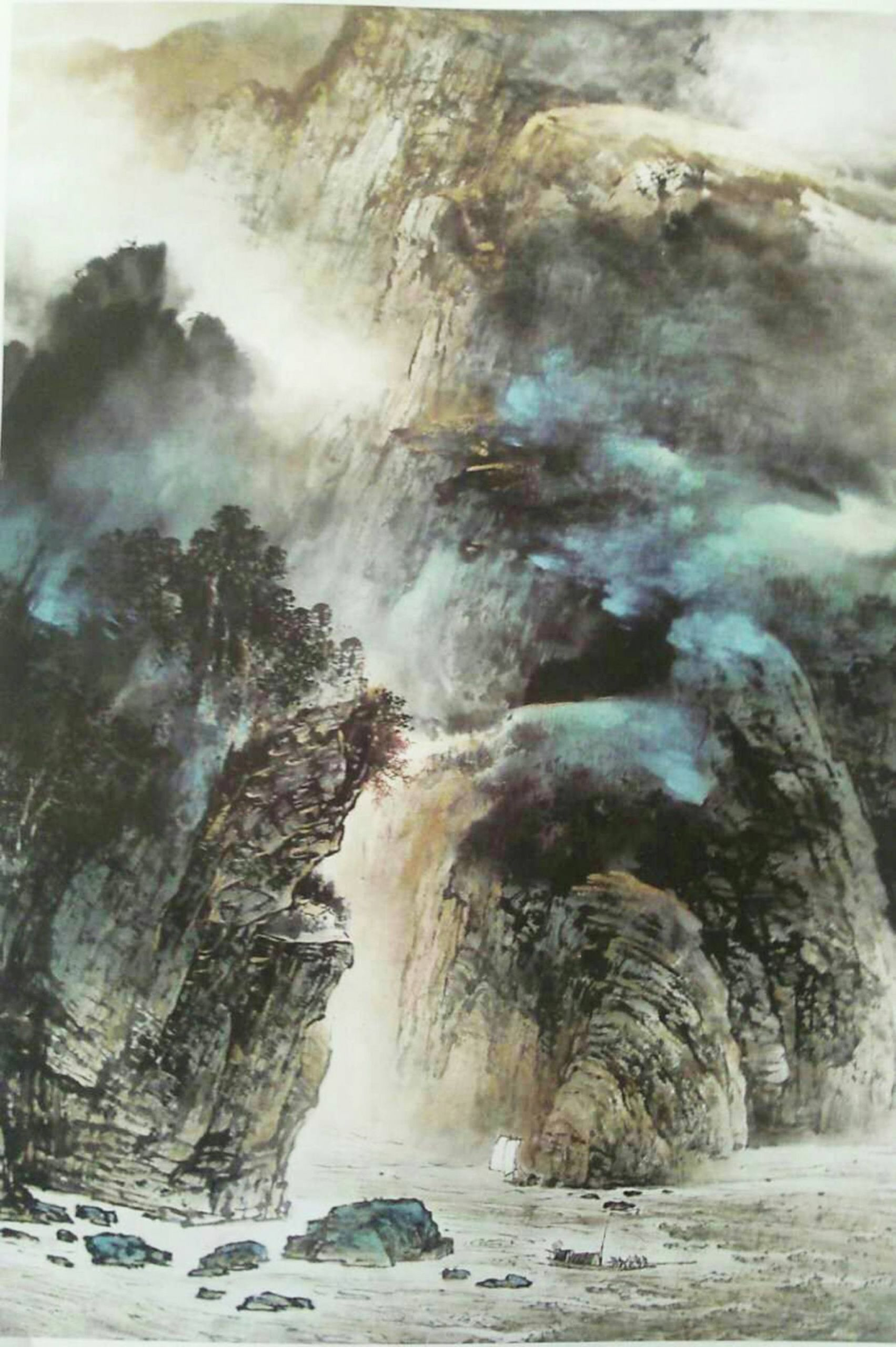 Chinese Landscape Paintings  Saatchi Art Chinese watercolour Landscape paining 56