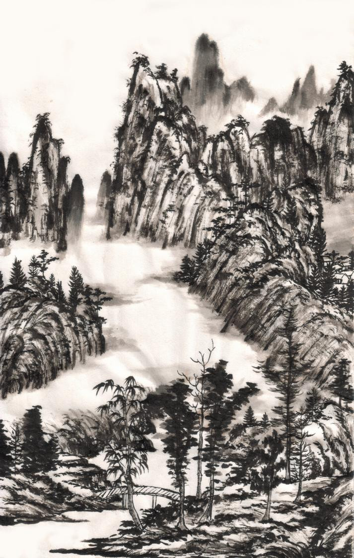 Chinese Landscape Paintings  chinese ink landscape painting by zeamays37 on DeviantArt