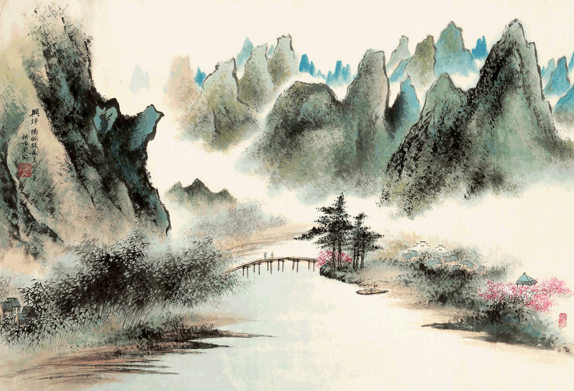 Chinese Landscape Paintings  Chinese art vintage nature landscape chinese paintings