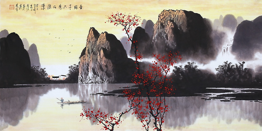 Chinese Landscape Paintings  Chinese painting Artist Oriental asian traditional