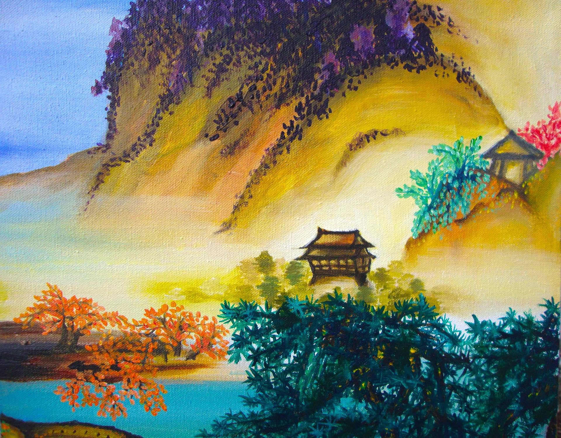 Chinese Landscape Paintings  Saatchi Art Colourful Ancient Chinese Landscape Painting