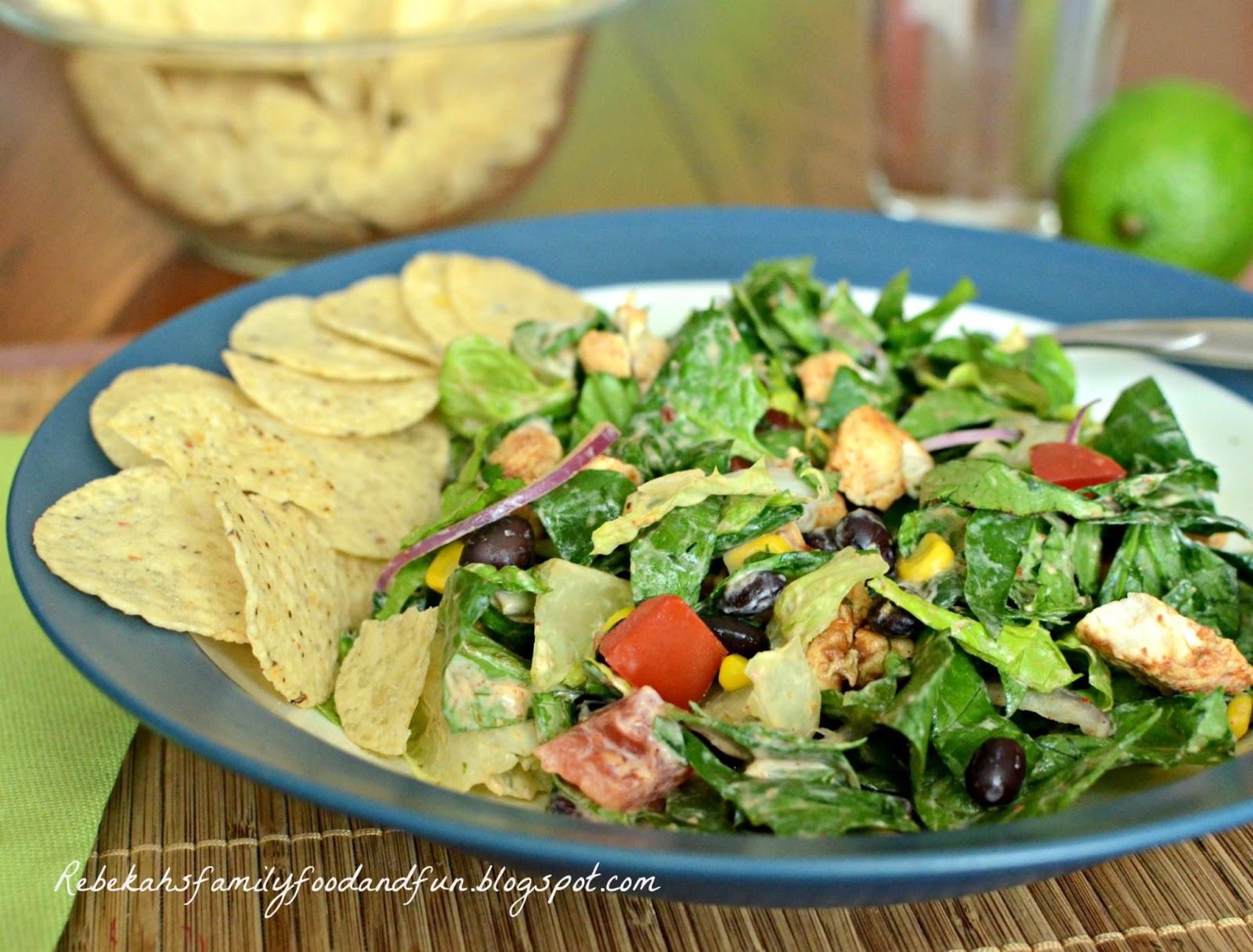 Chipotle Chicken Salad  Family Food and Fun Chipotle Chicken Taco Salad SRC
