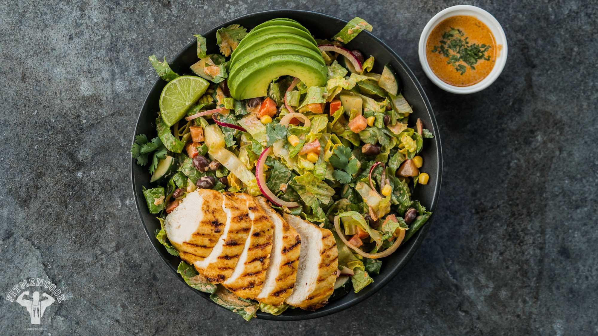 Chipotle Chicken Salad  20 Minute Chipotle Chicken Salad Fit Men Cook