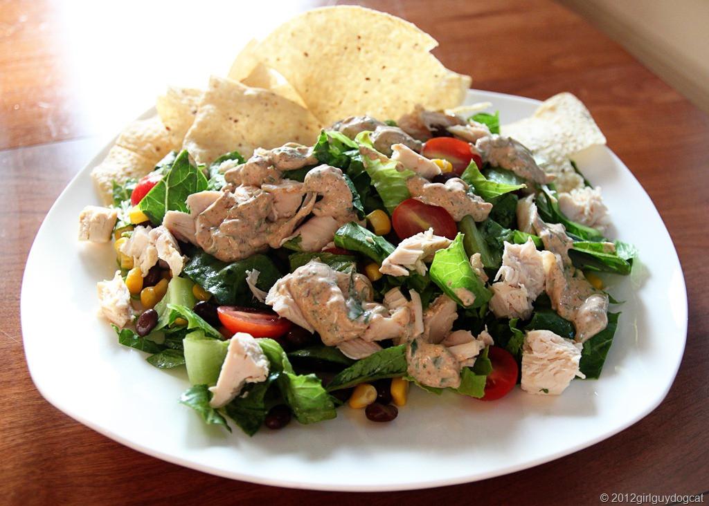 Chipotle Chicken Salad  Chipotle Chicken Taco Salad