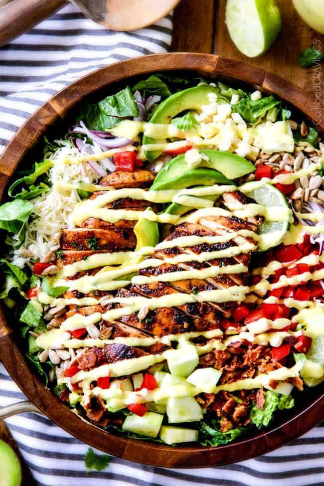 Chipotle Chicken Salad  Chipotle Chicken Salad with Honey Lime Mango Dressing