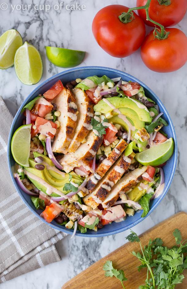 Chipotle Chicken Salad  Chipotle Southwest Chicken Salad 30 Second Dressing