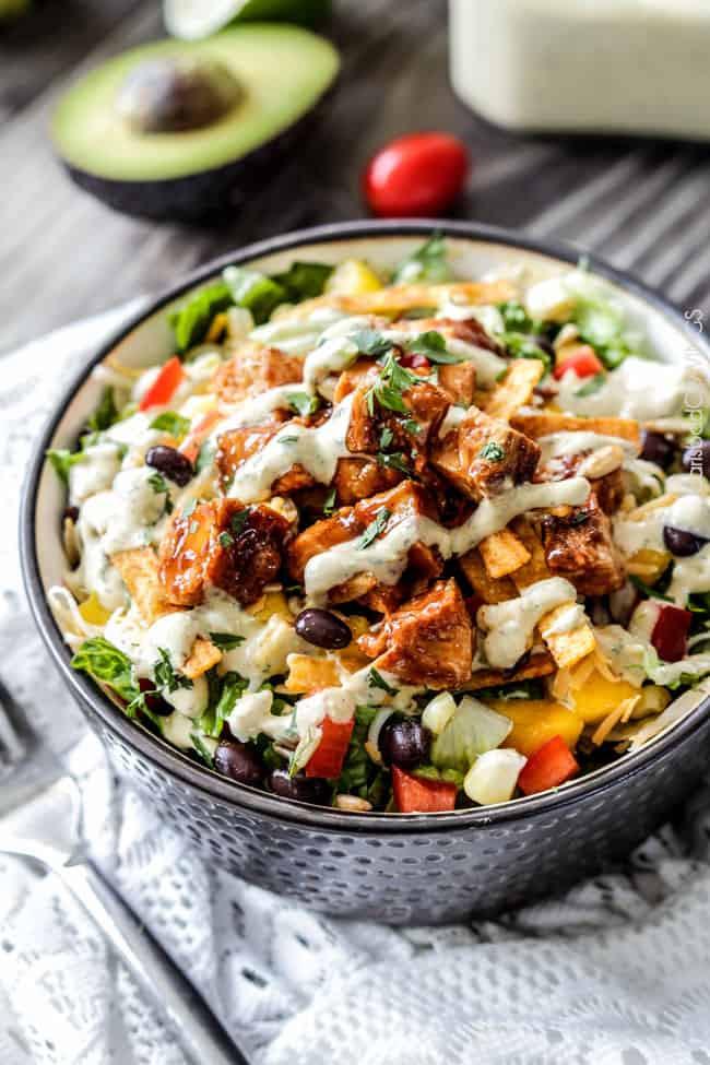 Chipotle Chicken Salad  Chipotle BBQ Chicken Salad Avocado Ranch Carlsbad
