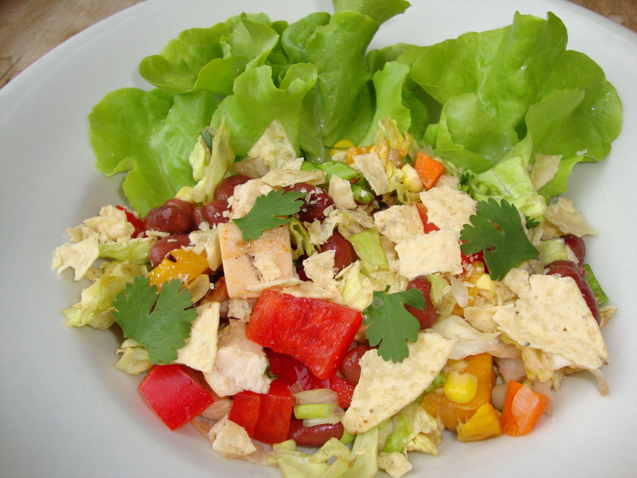 Chipotle Chicken Salad  Chipotle Chicken Taco Salad Real Food Real Deals