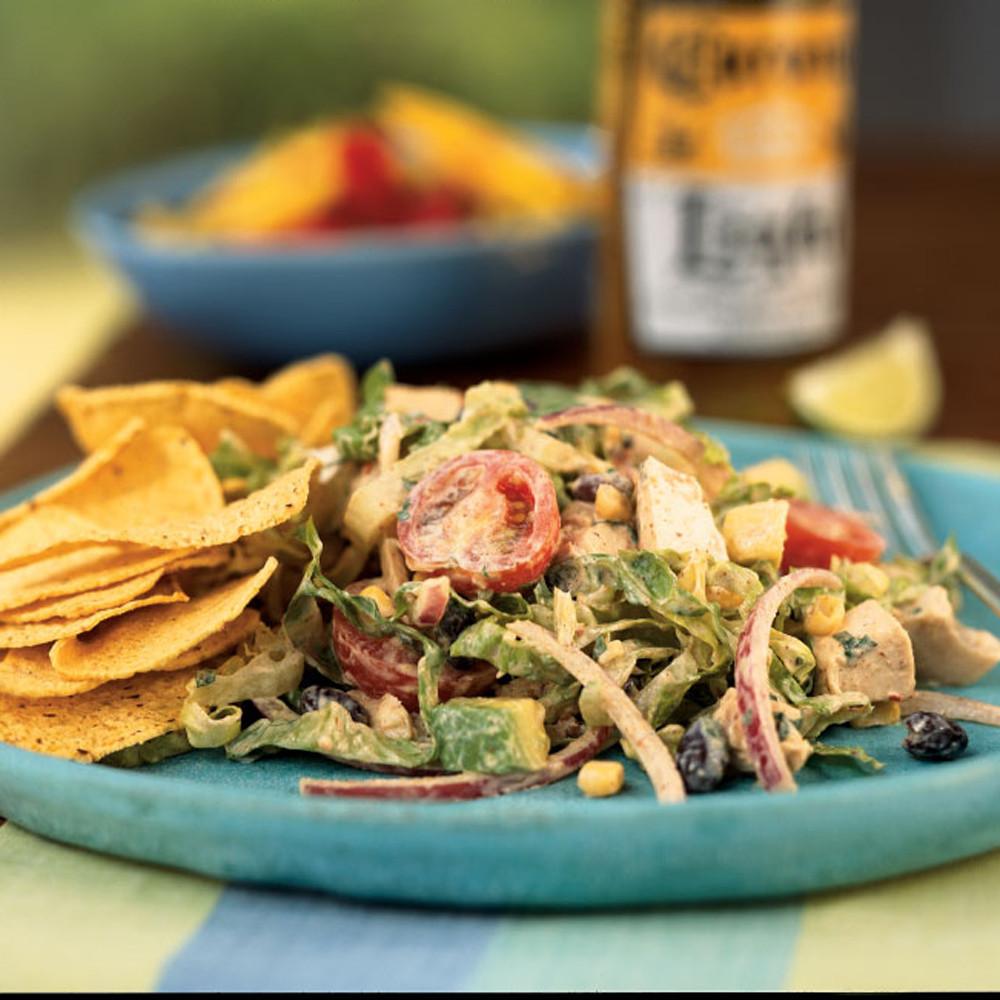 Chipotle Chicken Salad  Chipotle Chicken Taco Salad Recipe