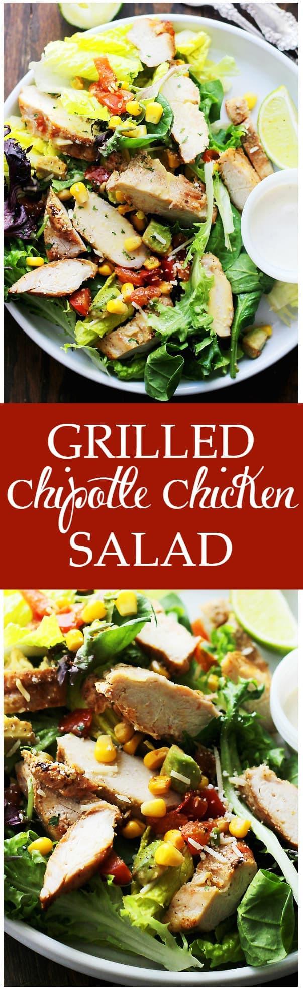 Chipotle Chicken Salad  Grilled Chipotle Chicken Salad Recipe