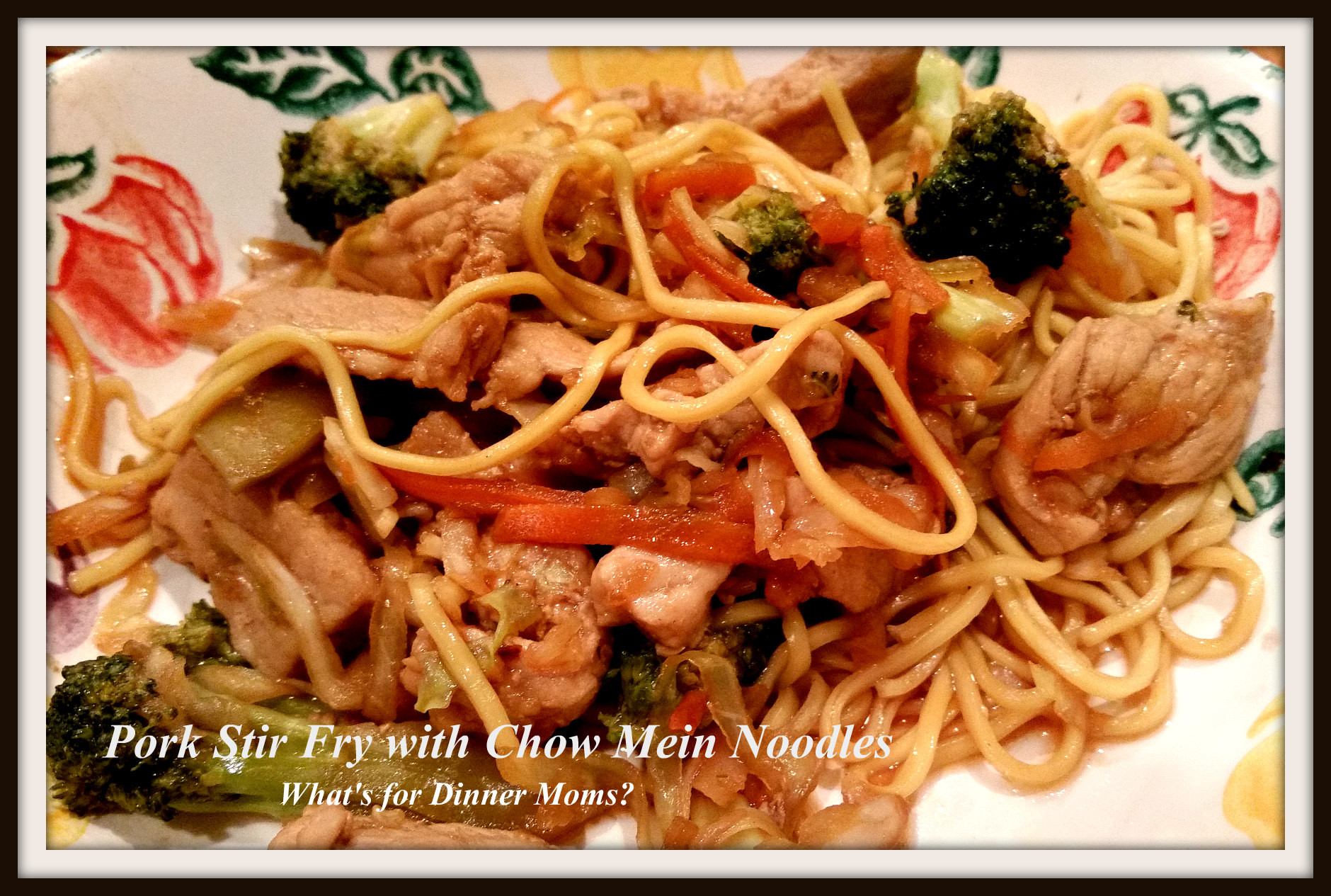 Chow Mein Stir Fry Noodles  Pork Stir Fry with Chow Mein Noodles – What s for Dinner Moms