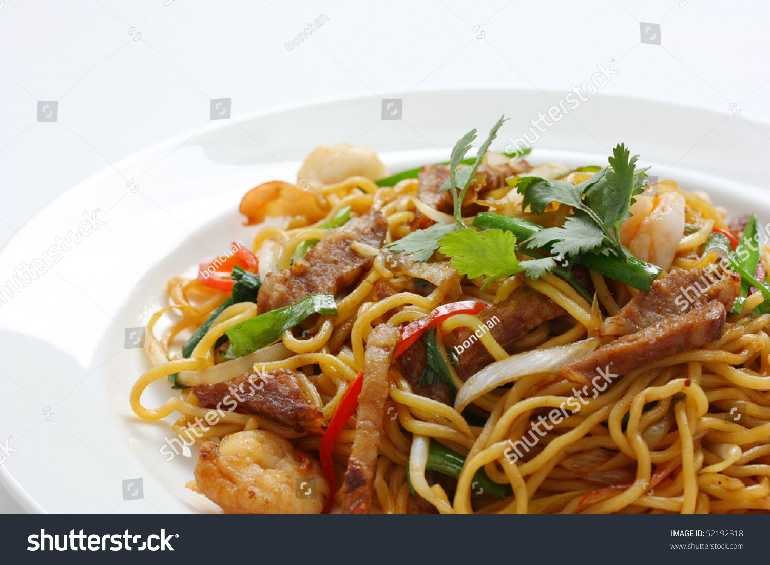 Chow Mein Stir Fry Noodles  Stir Fried Noodles Chow Mein Chinese Cuisine Stock
